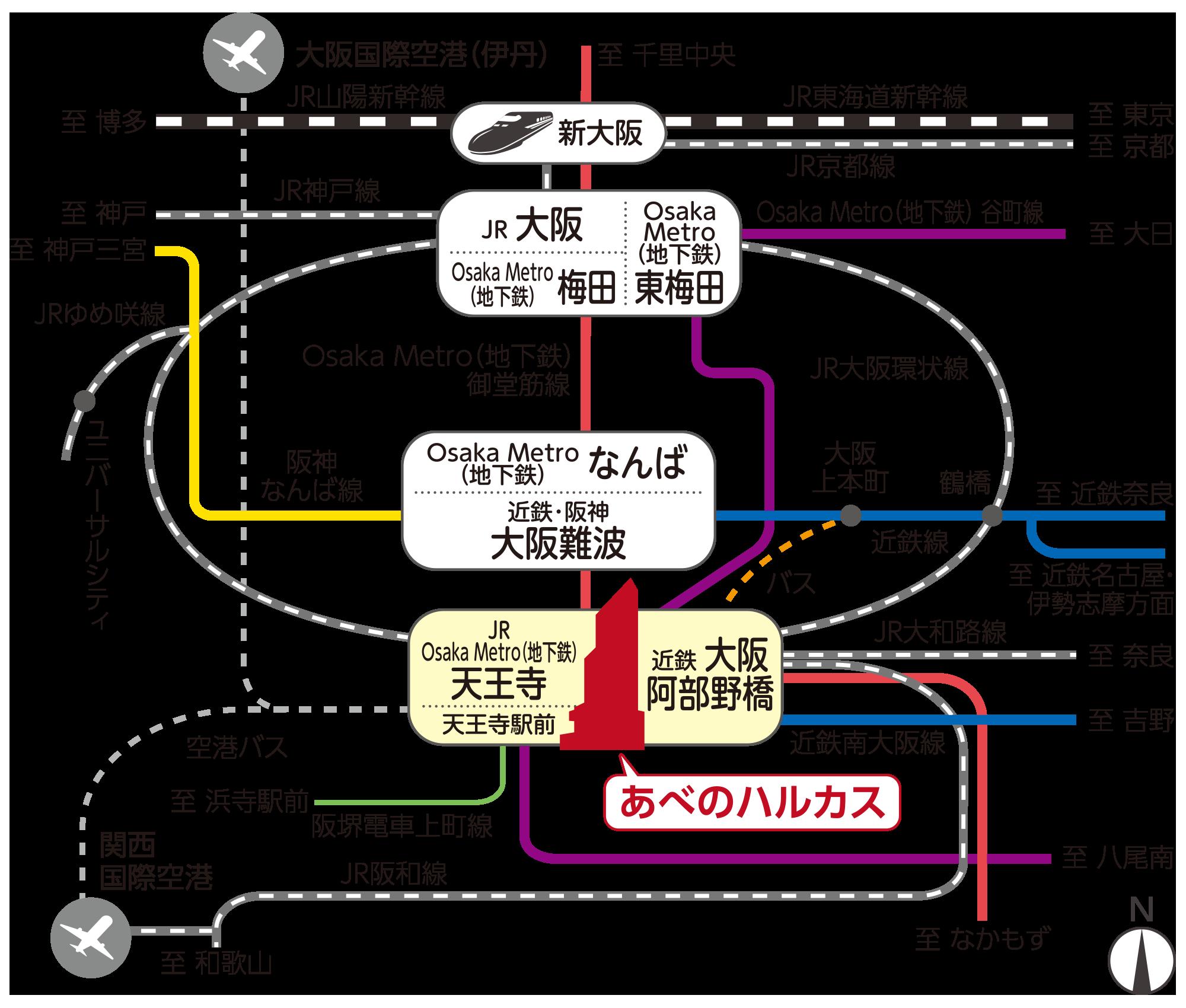 主要交通機関路線図